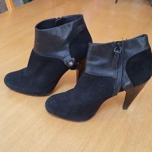"Cole Haan Black 4"" heel ankle boots sz.6b"