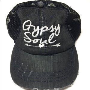 Accessories - Gypsy Soul Grey Black Trucker Hat!!