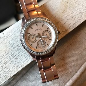 Fossil women's watch - rose gold