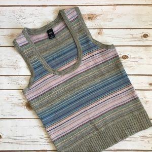GAP • Sweater Vest Multicolor, Scoop Neck