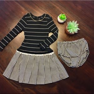 ✨Black and White Winter Dress Set✨