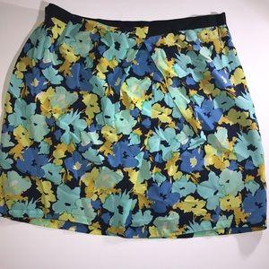 J. Crew 100% silk floral skirt