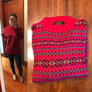 Eddie Bauer multi-color sweater