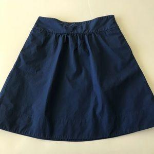 J. Crew A Line Skirt Blue Size 8