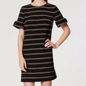 Ann Taylor Short Sleeve Ruffle Cuff Shift Dress 0
