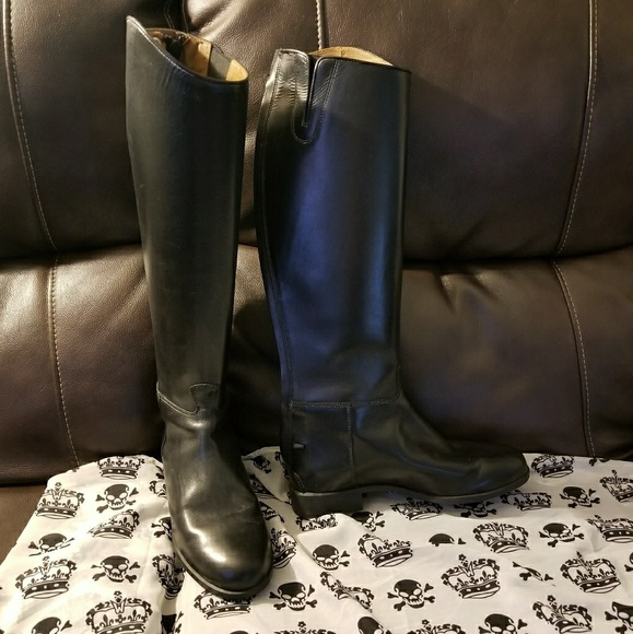 8c4f2646014 Ariat full calf heritage contour dress zip boots.