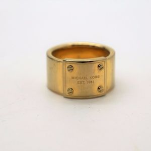 Michael Kors Gold Logo Ring