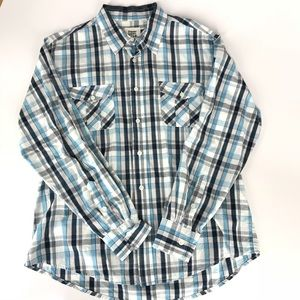 Paper Denim and Cloth Blue and White Check Shirt
