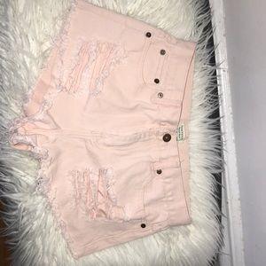 Jean shortie shorts