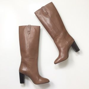 NEW Loeffler Randall Stacked Heel Leather Boots