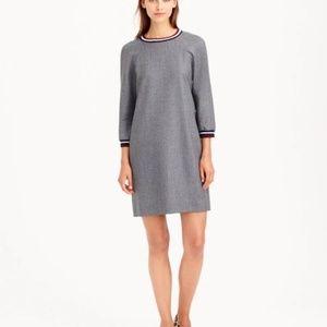 J. Crew Collection Wool Flannel Varsity Dress