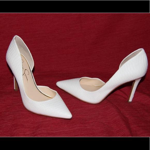 7f6788068fa Jessica Simpson Shoes - Jessica Simpson white elegant heels