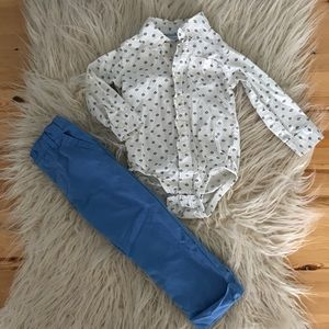Toddlers button up shirt with slacks