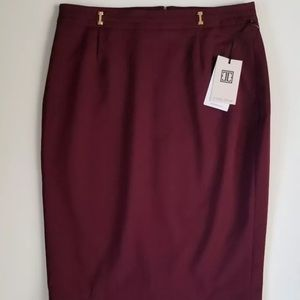 Ivanka Trump Burgundy/Maroon Pencil Skirt