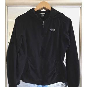 black north face fleece hoodie || ↟