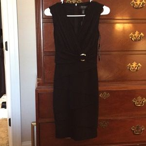 Black dress with ring detail
