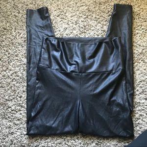 High waisted Leather Leggings