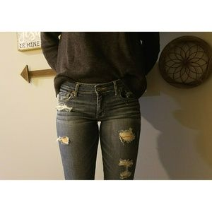 A&F Distressed Jeans