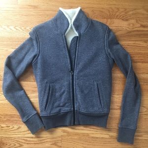 James Perse Sherpa Lined Grey Jacket