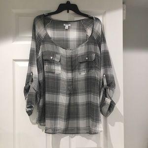 light chiffon material pullover
