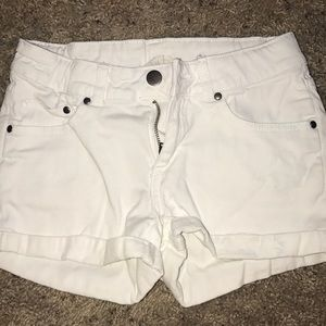 Kids white jean shorts!