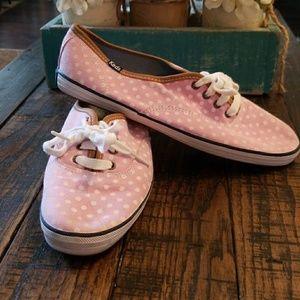 Keds 7.5 Pink polka dot shoes
