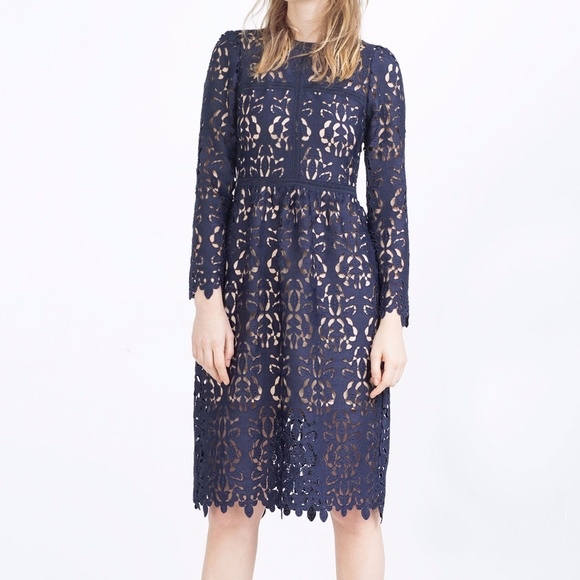 Lace Knee Length Dress with Boots