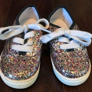 Little Girls Glitter Sneakers