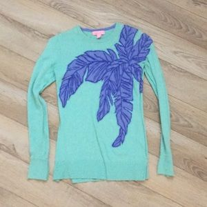 Lilly Pulitzer aqua turquoise blue sweater small