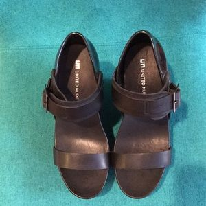 United Nude Sample Sale Black Platform Wedge