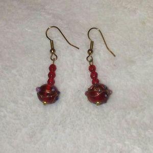 Jewelry - 🌸💰CLEARANCE💰🌸Red Beaded Earrings