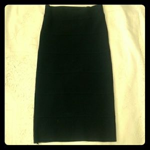 BCBG Alexa black pencil skirt
