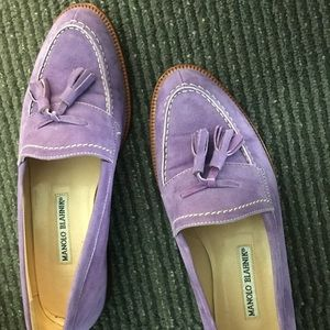 Manolo blahnik loafers in lavender