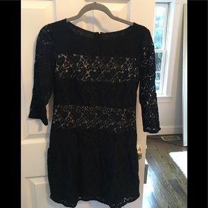 NWT Ann Taylor black lace dress