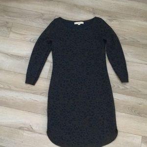Ann Taylor Loft sweater dress xs leopard
