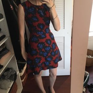 J. Crew Floral print fit and flare party dress