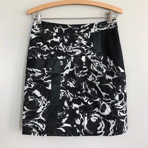 Anthropologie Leifsdottir black & white skirt