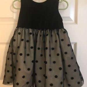 Super cute black formal dress.  18 months