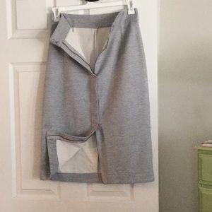 Free People gray pencil skirt
