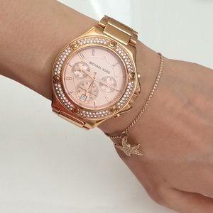 Michael Kors Rock Top Rose Gold Bracelet Watch