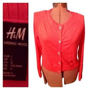 H&M Cardigan sweater with Rhinestone buttons,large