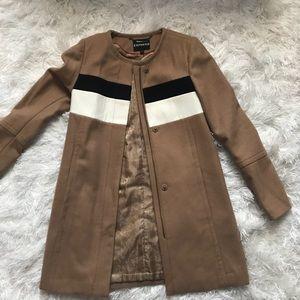 Express color block coat