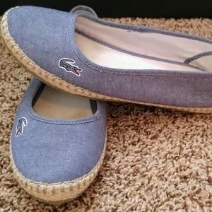 Lacoste chambray espadrille size 7