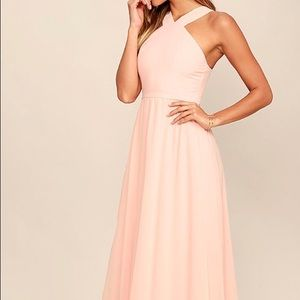 Lulus Air of Romance Peach Maxi