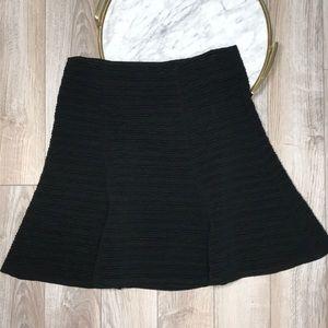 Anthro Maeve Black Skater Skirt