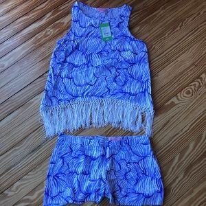 NWT Lilly Pulitzer Sonya set (tank and shorts)