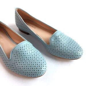 SOLE SOCIETY Summer Perforated Leather Loafers \ 6