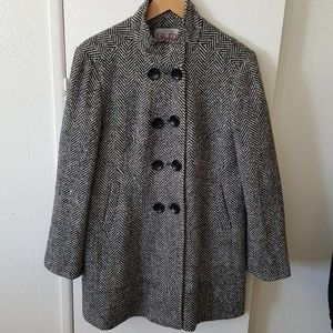 Macy's long double breasted peacoat. Size XL