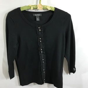 White House Black Market black cardigan sweater
