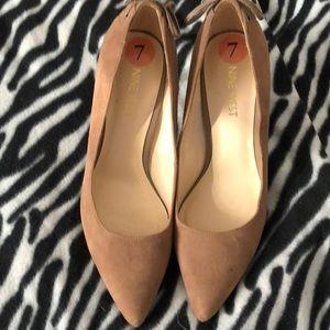 Nine West beige brown closed toe heels size 7